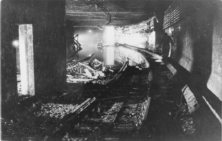 Berlin, gesprengter S-Bahn-Tunnel